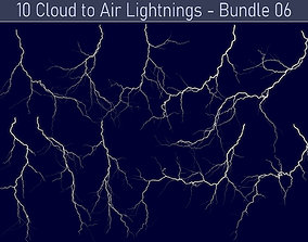 3D Realistic Lightnings Bundle 06 - 10 pack CA