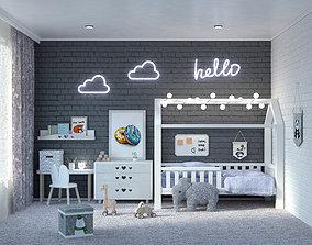 Children modern room 3D model