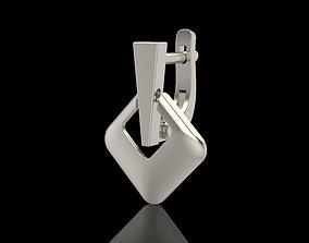 3D printable model Geometric rhombus earrings