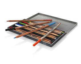 3D Colored pencils lyra