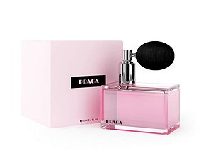 3D model Pink Glass Container Of Perfume