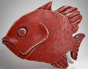 Metal Fish pendant 3D model