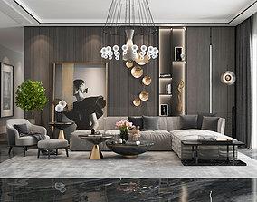 3D asset game-ready Living room