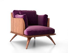 3D model Bianca Club Chair by Paul Mathieu