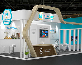 Exhibition Stand architectural 3D model