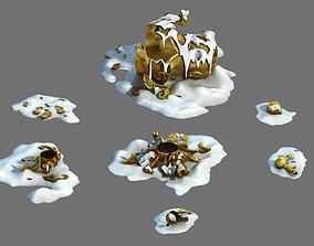 Dynasty Kunlun Snow Mountain - Broken Incense Burner 03 3D