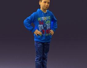 3D print model Boy in blue hoodie jeans 0440