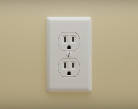 3D model Wall Outlet - High Quality - Subdivision Ready -