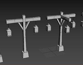 Old Street Lamb Series 3D asset