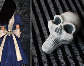 Alice Madness Returns inspired skull for 3D print model