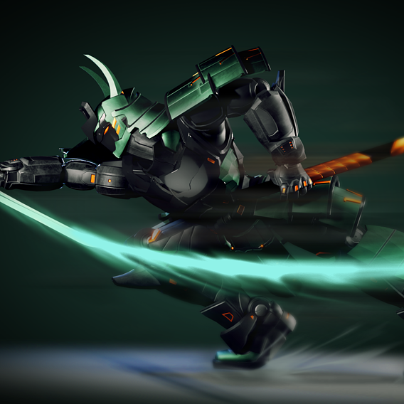 Samurai Robot RTS02 / Character model