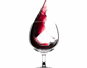 Splash Wineglass 1 3D