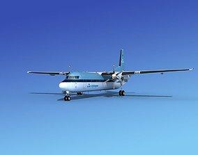3D model Fokker 50 KLM City Hopper
