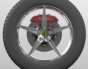 Wheel Ferrari 3D