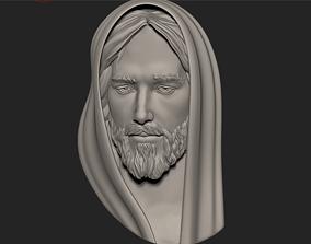 sculptures 3D print model Jesus Head pendant