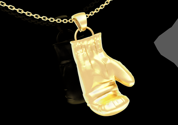 Boxing Gloves Pendant jewelry Gold 3D print model 3D print model