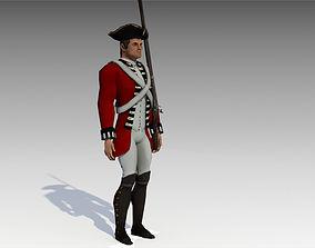 3D model British Redcoat Soldier