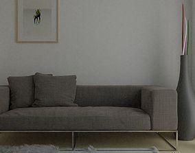 Basic Living Room 3D model