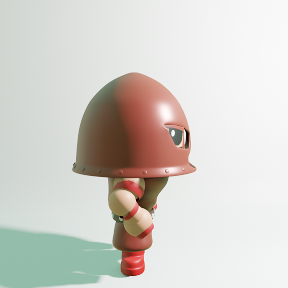 3d render from side and front