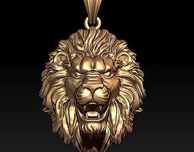 necklace lion pendant 3D printable model