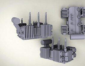 3D print model Industrial current transformer
