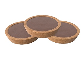 Biscuits with chocolate 3D