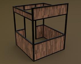 Stall stand 01 R 3D asset
