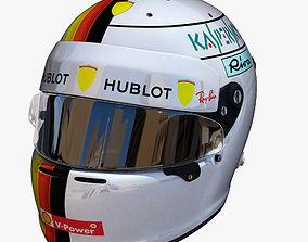 3D model Vettel helmet 2018