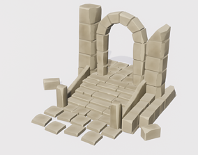 3D asset realtime Ruin Set