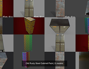 Old Rusty Steel Cabinet Pack 3D