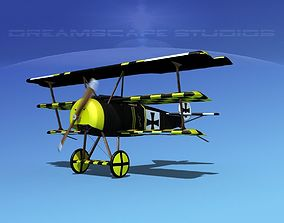 Fokker DR-1 Triplane Udet 3D