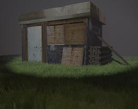 3D model game-ready Shack