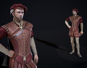 Burgher Medieval aristocrat 3D asset