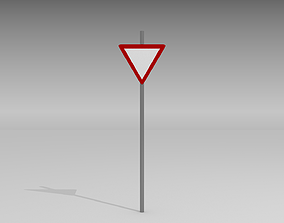 Give way sign 3D model