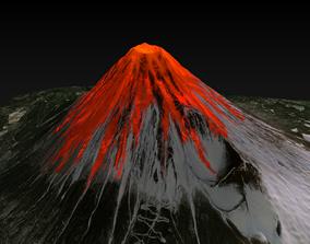 3D Lava Volcano Eruption
