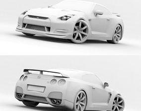 3D Nissan Skyline GT-R 35 no materials