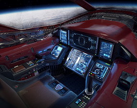 Scifi Light Fighter Cockpit 3D asset