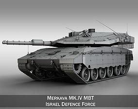 Merkava IV MBT 3D model gun