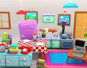 Cartoon Furniture Package 2 3D asset