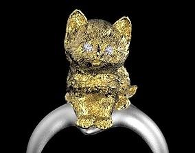 3D printable model cat ring pets