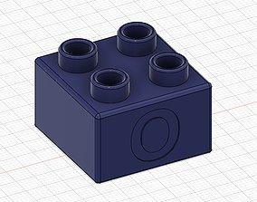 3D print model Lego Duplo compatible 2x2 O