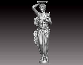 3D printable model woman statue figurine