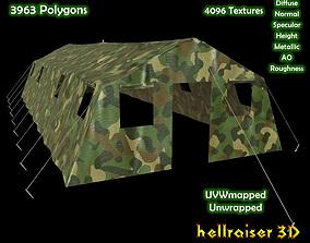 3D asset Military Tent - 5 - PBR - Textured