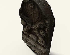 Dark Greek Monument 3D asset