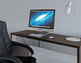 3D Work Desk and Chair