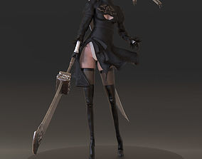 Yorha 2B from Nier Automata 3D printable model