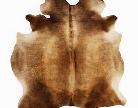 3D Cowhide Rug Brown