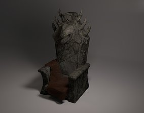 The stone throne of the Beast 3D asset