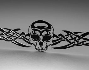 3D printable model Tribal Skull