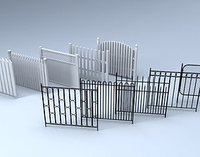 3D model game-ready Fences
